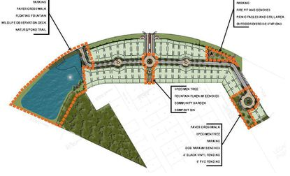 A rendering of how housing development Casselberry Greenville will look, complete with greenspace and plenty of water.