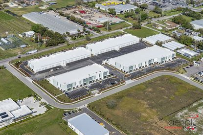 An aerial view of the Winter Garden Commerce Center industrial park at 661, 681 and 691 Garden Commerce Pkwy.