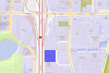 Highlighted in blue, the La Quinta Inn property on Jamaican Court was recently bought by a local hotel owner-operator.