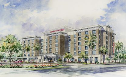 TownePlace Suites by Marriott is a brand known for locating near hospitals. This one, located near Orlando Health's main campus in SoDo, opens in October.