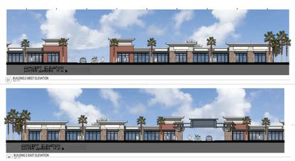 Elevations of the proposed Daniels Road Business Park submitted to the City of Winter Garden.
