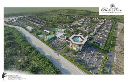 This rendering shows the preliminary subdivision plan submitted to Osceola County for the 130-acre Park Place Resort. It would contain 130 luxury vacation homes, a high-end hotel and a marketplace along Old Lake Wilson Road.