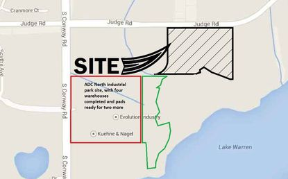 DCT Industrial files plan for 7th warehouse at ADC North on Conway Road