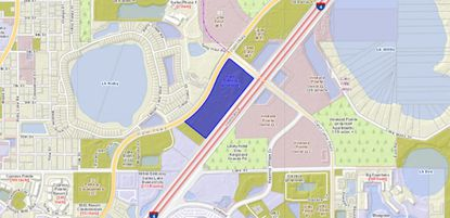 Acreage sold by Maury L. Carter and Associates on Palm Parkway in Orlando.