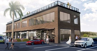 Rendering for the most recently proposed commercial plaza that's set to feature a mix of office, retail and restaurant space at 14344 State Road 535.