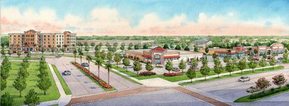 Elevation Development plans to start construction later this year on a national brand pharmacy at the corner of U.S.192 and Sherberth Road. Phase 2 of the project will have a 120-room branded hotel.