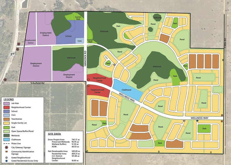 Clermont has approved and annexed the 743-acre Wellness Way Planned Unit Development that will bring over 2,000 new homes and apartments to South Lake County.