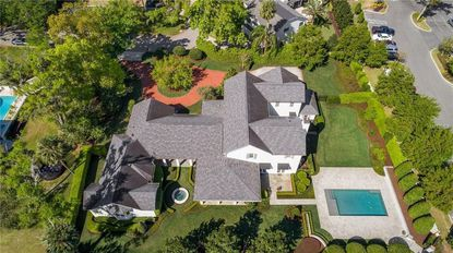 Aerial view of the home on Via Venetia in Winter Park, recently bought by Gary Jensen.