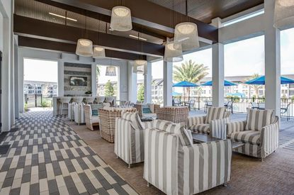 Social area at the Advenir at Castle Hill apartments in Clermont.