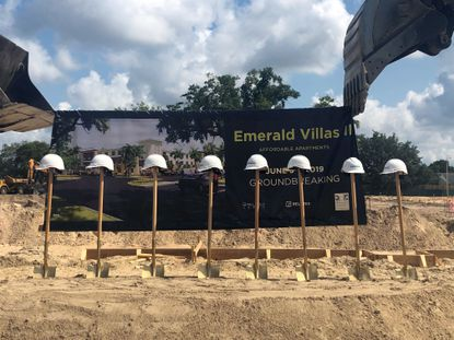 The second phase of Emerald Villas broke ground June 5. Once complete the project will feature 96 senior affordable housing units.