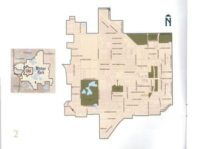 This map shows Winter Park's CRA district, which covers one square mile that includes the city's Central Business District, Hannibal Square and extends westward to U.S. 17-92 (N. Orlando Avenue).