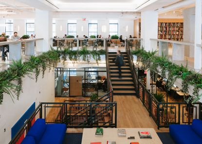 Global co-working leader WeWork announced it has leased 70,000 square feet in downtown Orlando's SunTrust Center. Shown here is the New York-based company's facility in Chelsea.