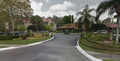 A street view of the entry to the former Serrano Apartments, now to be renamed Amalfi Apartments, located off of Conroy Road, northeast of Universal Orlando property.