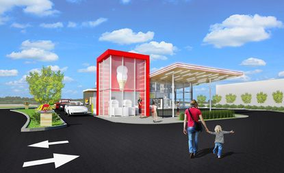A rendering of the proposed Andy's Frozen Custard in Sanford on Blue Topaz Lane.