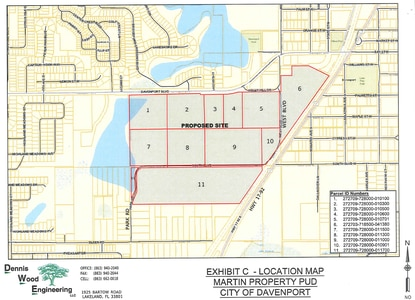 The Davenport City Council is rezoning 119.5 acres of citrus groves just west of U.S. 17-92 for a new 457-lot subdivision.
