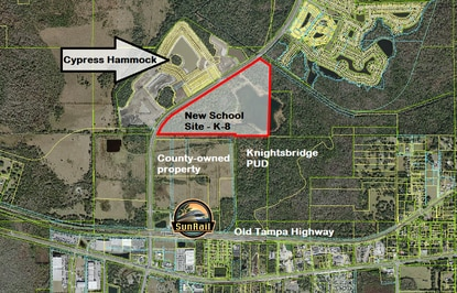 The School District of Osceola County is under contract for a portion of this 110-acre parcel on S. Poinciana Boulevard.