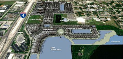 An April 2021 presentation crafted by Sovereign Land Company shows the conceptual build-out of its proposed Hungerford Park community.