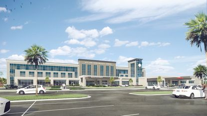 New rendering of the planned 100-bed UCF Lake Nona Medical Center.
