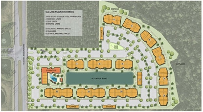 The Tampa-based developer is planning to build 344 rental units, including four apartments that will be incorporated into the clubhouse.