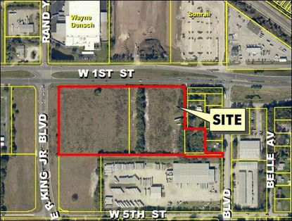 With its proximity to Sanford's SunRail station this land is up for rezoning to a transit-oriented-community.