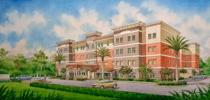 """A new """"resort style"""" assisted living facility, Heritage Club, is coming to Sanford at the corner of Aero Lane and West State Road 46."""