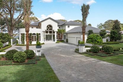 View of the lakefront home on Green Cove Road in Winter Park that was purchased last week.