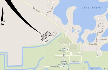 Highlighted in black is the site for a 124-unit third phase at Windermere Cay Apartments, off of Reams Road just north of the Walt Disney World entrance at Center Drive.
