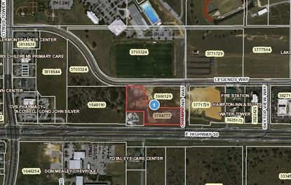 Highlighted in red is a parcel on S.R. 50 in Clermont, of which a portion was bought last week by Argonne Capital Group from local developer Mark Graff.