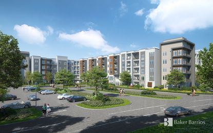 America Landmark Apartments is building a luxury apartment community in the parking lot of the former Artegon Marketplace.