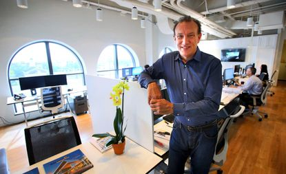 John Cunningham, Orlando managing principal for Zyscovich Architects, in his new office in downtown Winter Park.