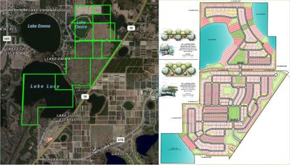 Developer Hanover Land Co. has submitted revised plans for the LaViance development in Groveland.