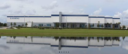 A view of AA Metals' main office and industrial building in Orlando.