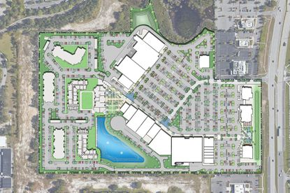 A site plan for the WaterStar Orlando mixed-use project along West Irlo Bronson Memorial Highway.