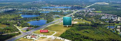An aerial view of the location of West Lucaya Village Resort along US 192 in Kissimmee.
