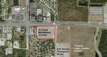 The 10-acre commercial site on U.S. 192 at Narcoossee Road sold this week for $2.8 million.