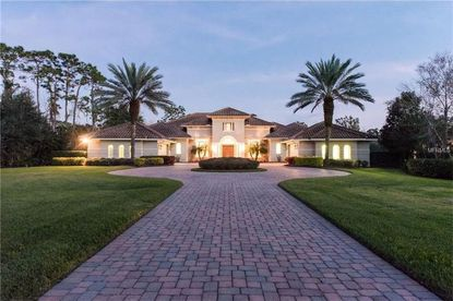 A view of the front of the home on Sloane Street in Lake Nona that was recently acquired by Ahmad K. Brooks and family.