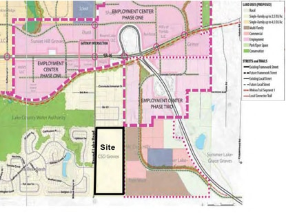 The proposed subdivision is just south of the Wolf Branch Innovation District.