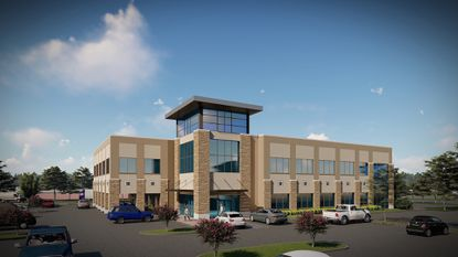 Rendering of V3 Capital Goup's proposed two-story, 32,000-square-foot office building.