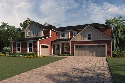 Mattamy Homes designed new elevations and floorplans, including this Farmhouse style five-bedroom house, for the Preserve at Crown Point on Lake Apopka.