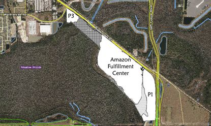 Tavistock Development Company is seeking to construct a 67,500-square-foot warehouse building on Parcel 3 within the Boggy Creek/Airport South PD.