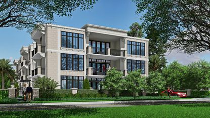 A rendering of what the new three-story condominium building could look like at 503 N. Interlachen Ave., in Winter Park.