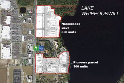 Luxury multifamily developer Bainbridge Companies has two new apartment communities in the works on Narcoossee Road, along the shore of Lake Whippoorwill.