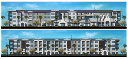 Elevations of the proposed active-adult community in Winter Park.