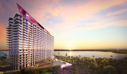 An original artist's rendering from 2015 of the planned ph Premeire Hotel & Spa Orlando, to be set on 14 acres west of Lake Bryan, in the Lake Buena Vista area.