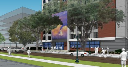 Rendering for the proposed 13-story active adult community in downtown Orlando.