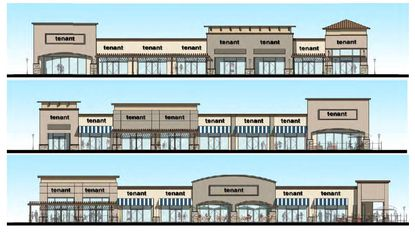 The newly proposed retail center at 1805 Avalon Rd. consists of three retail/restaurant buildings and one quick service restaurant building.