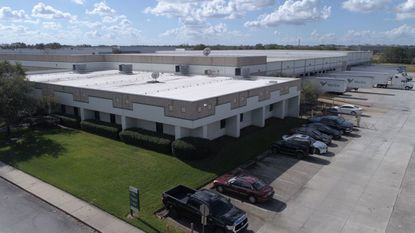 Aerial photo of the warehouse at 3200 Mercy Dr. in Orlando.