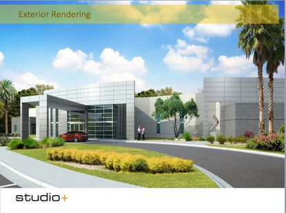 A rendering of the orthopedic medical center proposed in Lady Lake by Surgical Practice Resource Group of Florida Inc.
