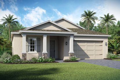 Fifty single-family homes are underway in the city of Ocoee, as part of a new K. Hovnanian home community called Ocoee Landings, with homes featuring stainless steel appliances and concrete patios.
