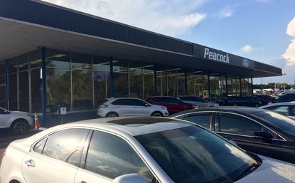 A view of the main sales department building at the newly renamed Peacock Ford on Orlando Avenue, in South Maitland.